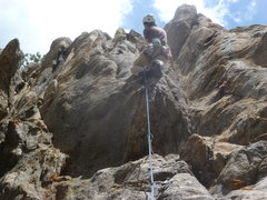 Rock Climbing Photo: Just above the crux.