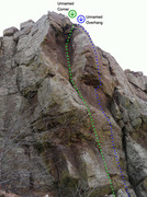 Rock Climbing Photo: Unnamed Overhang / Unnamed Corner.