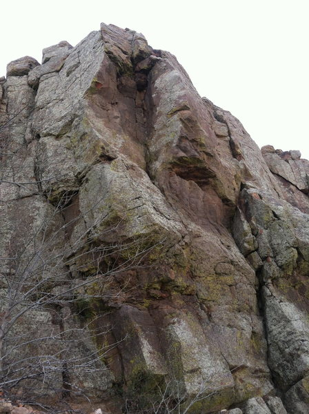 Rock Climbing Photo: Unnamed Corner / Unnamed Overhang.