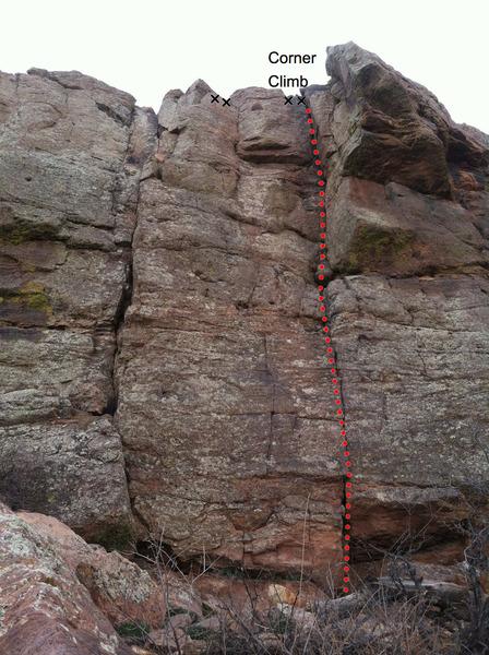 Corner Climb & adjacent routes.