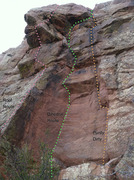 Rock Climbing Photo: Dihedral Route & Purdy Dirty.