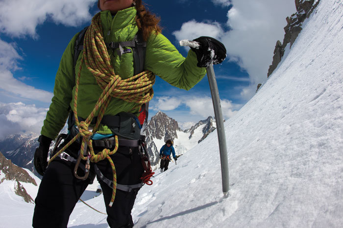 Rock Climbing Photo: Roping up can protect your party on soft snow, but...
