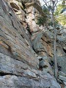 Rock Climbing Photo: TJ working his way up