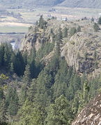 Rock Climbing Photo: South canyon east face from the top of Upper East ...