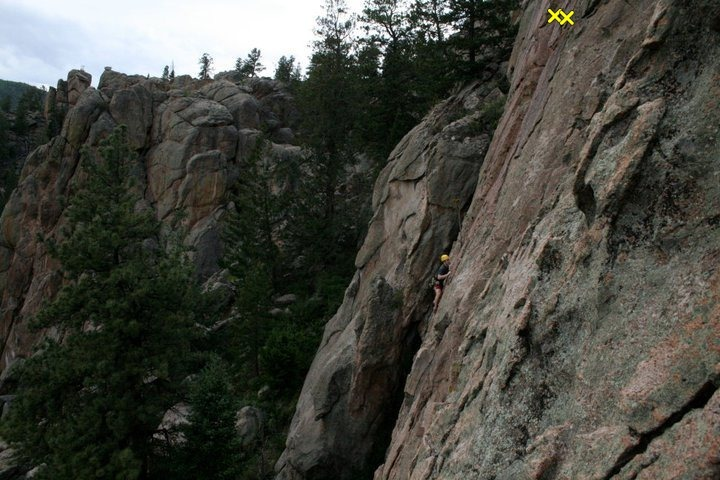 Rock Climbing Photo: Lengthy 5.8 route underneath large overhang at top...