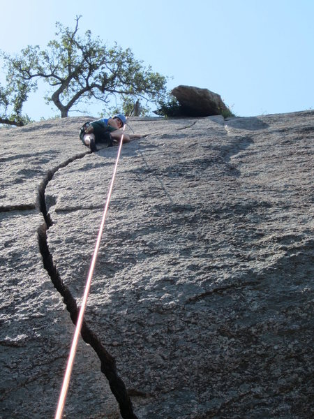 Rock Climbing Photo: Camalot #3 needed for first placement above the li...