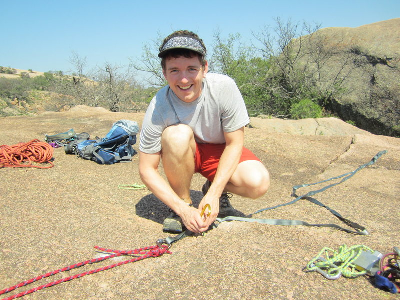 Rock Climbing Photo: Enchanted Rock rappelling
