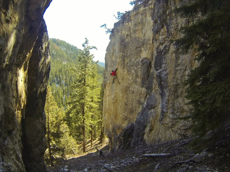 Rock Climbing Photo: Twisted Shocker, 5.12a