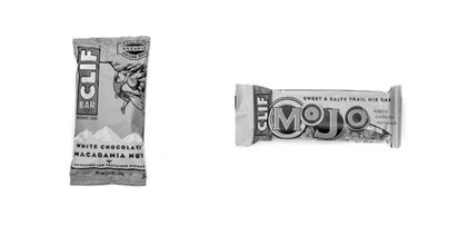Rock Climbing Photo: MOJO (190 cal) vs. Clif bar (260 cal)