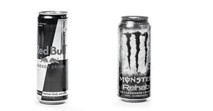 Rock Climbing Photo: Monster Rehab (20 cal/16 oz.) vs. Red Bull (220 ca...
