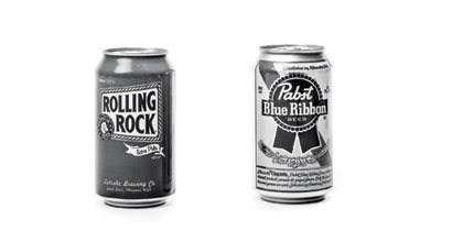Rock Climbing Photo: Rolling Rock (120 cal/12 oz.) vs. PBR (152 cal/12 ...