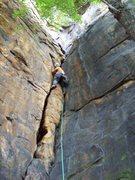 Rock Climbing Photo: Biohazard.  2008, photo Ely.
