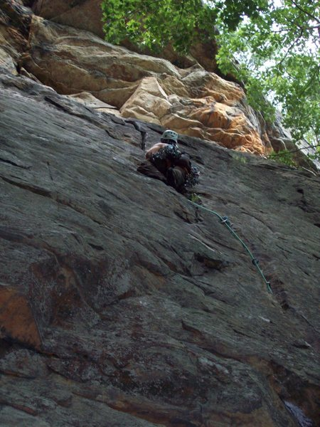 Rock Climbing Photo: This great climb, as I recall, keeps your attentio...