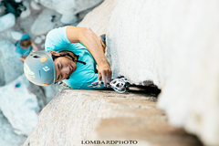 Rock Climbing Photo: Wei Ming, elbows deep.  Lombardphoto
