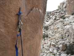 Rock Climbing Photo: Small natural pockets were great for setting a Tal...