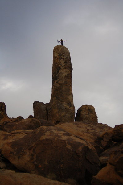 Rock Climbing Photo: Hercules Finger 2/2/14. The bolts at the top are o...