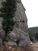 Rock Climbing Photo: Big wall training.