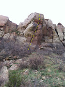 Rock Climbing Photo: South OW -- it's the wide crack in the center of t...