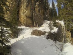 Rock Climbing Photo: Climbing at The Ice Box in April.