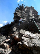 Rock Climbing Photo: Dave deciphers the crux.