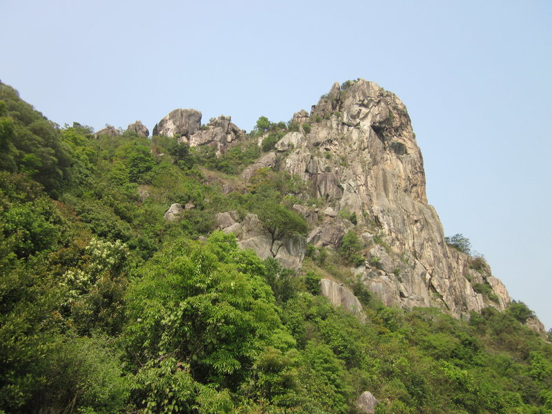 Rock Climbing Photo: Lion Rock West Face