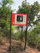 Rock Climbing Photo: Turnoff from the main trail to the climbing area a...