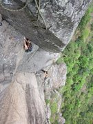 Rock Climbing Photo: Pitch 2 of Gweilo.