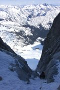 Rock Climbing Photo: Looking down the constriction from where it opens ...