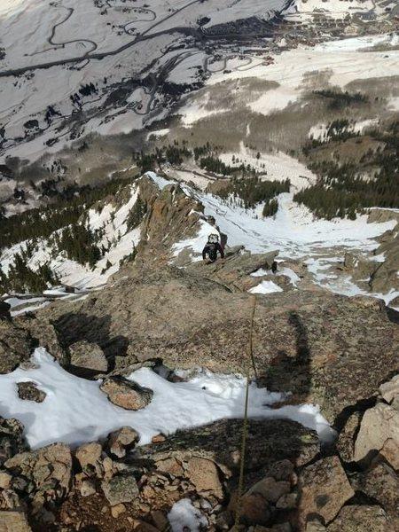 Close to the top of Sunset Ridge.