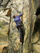 Rock Climbing Photo: David climbing the perfect crack