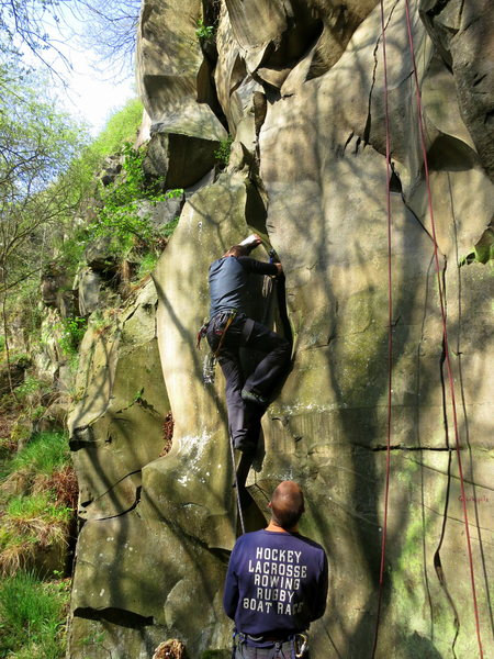 Rock Climbing Photo: Chris at the start