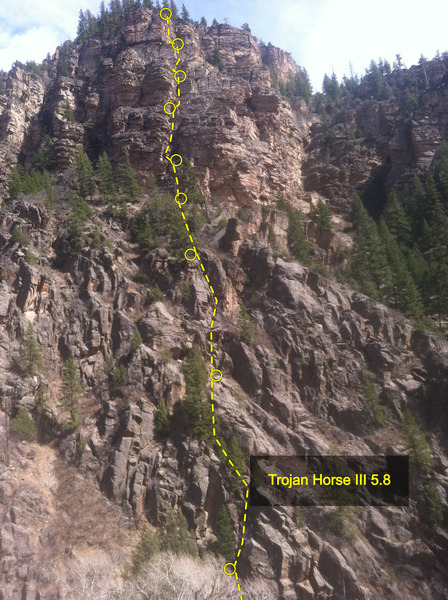 East Side of No Name Canyon. Trojan Horse beta.