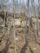Rock Climbing Photo: Off width crack to the right of Atropine.