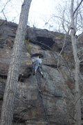 Rock Climbing Photo: Shane heading up