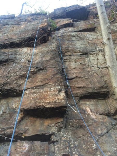 Rock Climbing Photo: Up the Slot. Gear is there, you just have to look ...