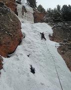 Rock Climbing Photo: Loyd on lead