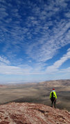 Rock Climbing Photo: The view of Las Vegas from the summit of Rose Towe...