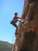 Rock Climbing Photo: Flexing the muscles and pulling the onsight of the...