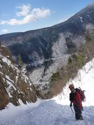Rock Climbing Photo: Just before the start of the Ice Section. Such bea...