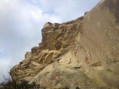 Rock Climbing Photo: P1 of Hindu Kush (Original Start), 5.8.