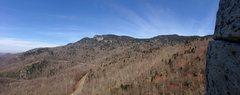 Rock Climbing Photo: Beautiful view of Grandfather Mountain while climb...