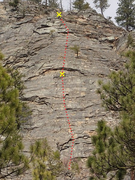 Rock Climbing Photo: Therootytookus (upper face pitches)