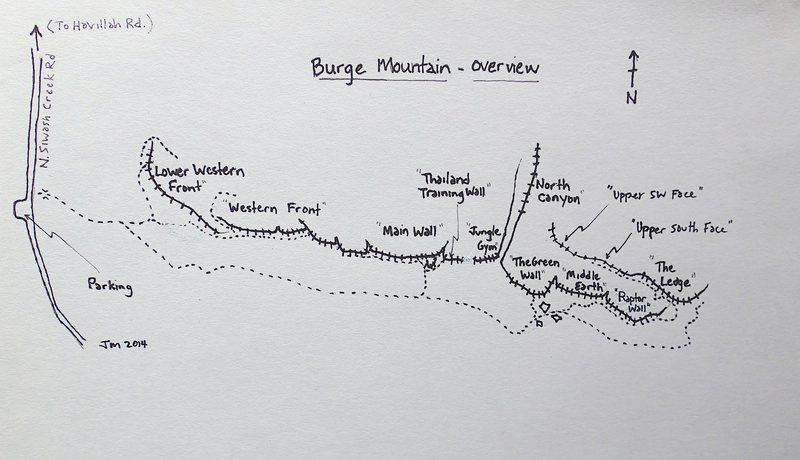 Rock Climbing Photo: Burge Mountain Overview
