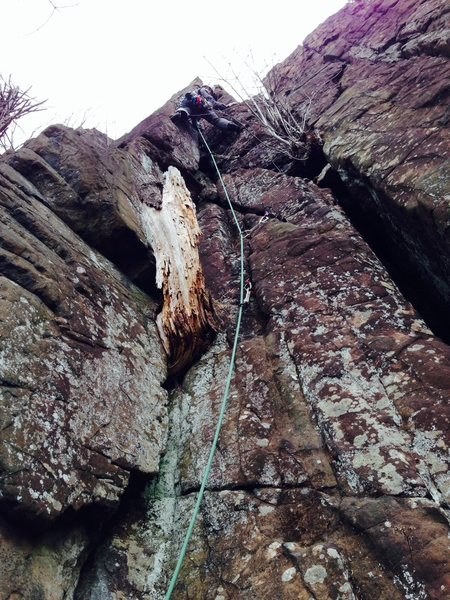 Twin Crack Left, East Peak CT (5.4). Twin Crack Right (5.7) can be seen in the very far right of the picture.