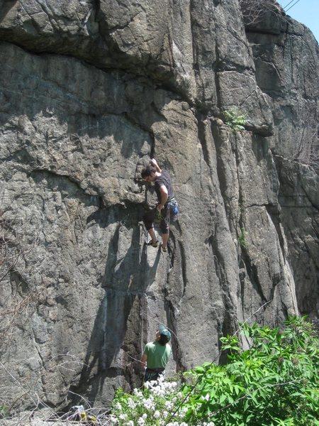 Rock Climbing Photo: Andrew heading up Crankenstein