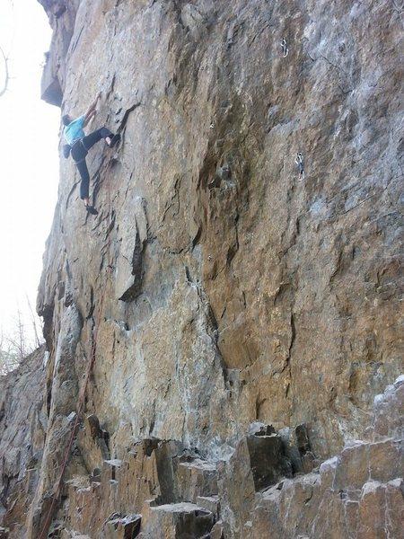 Rock Climbing Photo: Mid crux