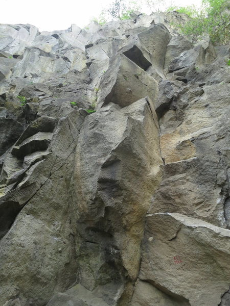 Rock Climbing Photo: The route. Klimax is written at the start.