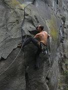 Rock Climbing Photo: Chris climbing the start of J.P.