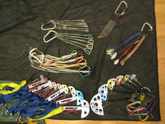 Rock Climbing Photo: Size comparisons of my current rack. C4s, Forged F...