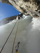 Rock Climbing Photo: Laurel starting P2. January 2014.